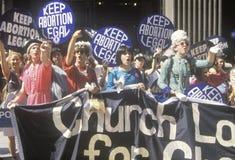 Für das Recht auf Abtreibung Sammlung Stockbild