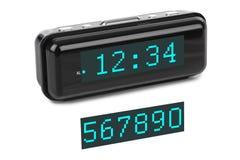 får den digitala siffrapåfyllningen för klockan bara onödigt övre för ljusdiod rakt till Royaltyfri Bild