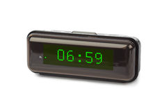 får den digitala siffrapåfyllningen för klockan bara onödigt övre för ljusdiod rakt till Royaltyfria Foton