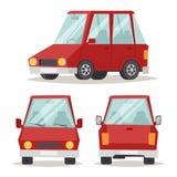 För designlägenhet för generisk röd bil som lyxig illustration för vektor isoleras på vit Arkivbild