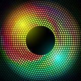 För diskoljus för vektor färgrik ram Royaltyfri Foto