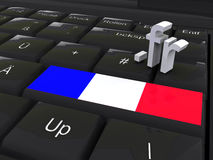 FR Domain. Enter key with country code of France Royalty Free Stock Photos