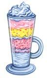 För efterrättgem för vattenfärg söt illustration för konst Arkivfoton
