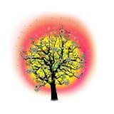 för feriesymboler för beröm rolig lycklig tree Royaltyfri Fotografi