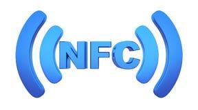 För fältkommunikation för symbol near NFC Arkivfoto