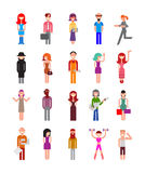 för folkperson för symbol en arbete för användare set Arkivbild