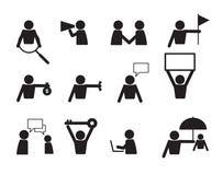 För folksymbol för affär kommersiell vektor för uppsättning Fotografering för Bildbyråer