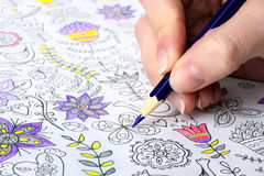 för färgläggningdiagram för bok färgrik illustration Arkivbild