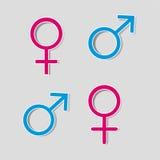 för genusillustration för begrepp 3d symboler Fotografering för Bildbyråer