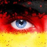 för germany för tillgänglig flagga vektor glass stil Royaltyfri Bild
