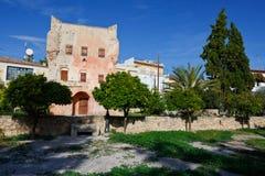 för greece för aegina archaeological lokal för kolona ö Arkivfoto