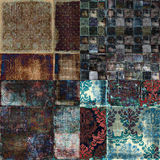 för grungescrapbook för bakgrund bohemisk blom- tappning för tapestry Royaltyfri Foto