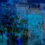 För GrungeScrapbook för tappning blom- bakgrund Fotografering för Bildbyråer