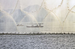 för hangzhou för porslin 2 vatten show Fotografering för Bildbyråer