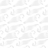 För havsvåg för vit sömlösa abstrakta former Royaltyfria Bilder