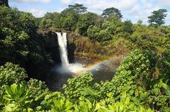 för hawaii för 02 stor falls regnbåge ö Royaltyfria Bilder