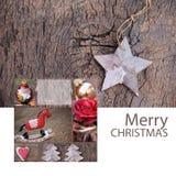 För hälsningkort för glad jul natur Arkivfoto
