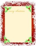 för julhälsningar för blankt kort mall Arkivbild