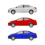 För konstsida för toppen bil realistisk sikt Generisk bil Arkivfoto