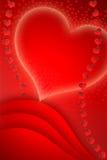 för kortdagbokstav röd s valentin för stolpe Arkivfoto