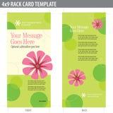 för kortkugge för broschyr 4x9 mall Royaltyfri Bild