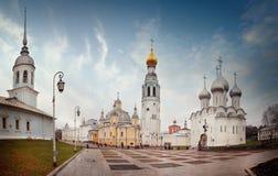För kremlin för ortodox kyrka vologda fyrkant Royaltyfri Bild