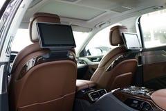för läderhastighet för bil inomhus inre medel för sportar Arkivfoton