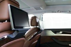 för läderhastighet för bil inomhus inre medel för sportar Royaltyfri Bild