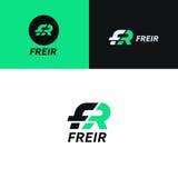 FR logo sign company icon vector design. Logo sign company icon vector design Stock Images