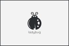 För logodesign för nyckelpiga djur bakgrund Royaltyfri Fotografi