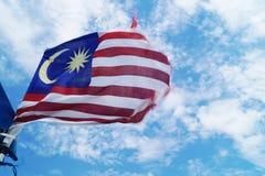 för malaysia för tillgänglig flagga glass vektor stil Royaltyfri Bild