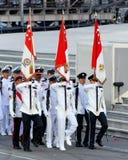för marschndp för 2009 flagga tri service för deltagare Royaltyfria Bilder