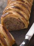 för meatplatt för bräde hugga av korv Royaltyfri Bild