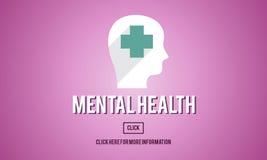 För medicinpsykologi för mentala hälsor emotionellt begrepp Royaltyfri Bild