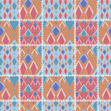 För modelltextur för patchwork sömlös geometrisk bakgrund med r Royaltyfria Foton