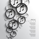 För musikanmärkning för vektor överlappande bakgrund Arkivfoto