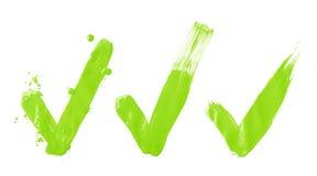 För olje- målarfärg för borste för slaglängd fläck för fästing ja Arkivfoton