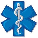 för ormstick för caduceus medicinskt symbol Royaltyfria Bilder