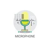 För produktionljud för mikrofon ljudsignal symbol Fotografering för Bildbyråer