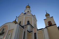 för russia för belgorod ortodoxt tempel ryss Arkivbild
