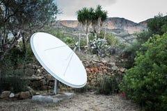 för satellitvektor för maträtt illustration isolerad white Royaltyfri Fotografi