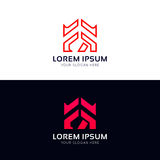 FR sign company icon vector logo design Royalty Free Stock Images