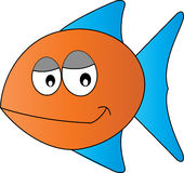 för tecknad filmbegreppet för konst 3d fisken framför Royaltyfri Fotografi