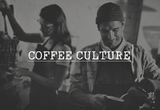 För Tid för kaffeavbrott begrepp för njutning för avkoppling kultur Royaltyfri Fotografi
