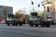 För tigeranti--behållare för pansarbilar GAZ-2330 komplex Kornet missil Royaltyfri Fotografi