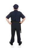 för tjänstemanpolis för huvuddel full baksida Fotografering för Bildbyråer