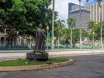 För `-uokalani för drottning Lili staty Arkivbild
