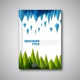 För vektorabstrakt begrepp för tappning Retro broschyr, bok, reklambladdesigntempl Arkivbild