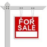 Für Verkaufs-Grundbesitz-Zeichen Stockbild