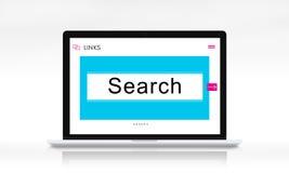 För Websitesammanlänkningar för HTTP WWW begrepp för diagram för ask för sökande Royaltyfria Bilder